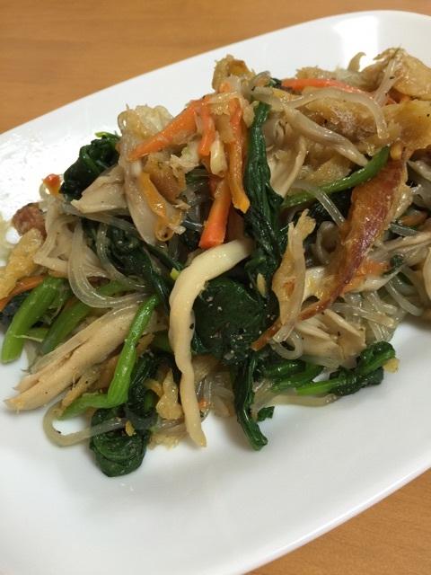 韓国料理レシビ、チヤプチェ