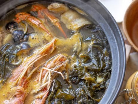 天然ワカメ海鮮味噌スープ